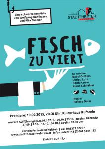 Plakat Fisch zu Viert