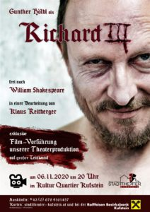 Richard III - Filmvorführung @ Kultur Quartier Kufstein